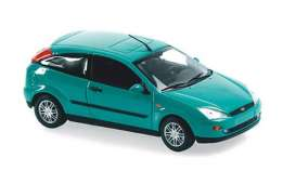Ford  - Focus 2-door 1998 green metallic - 1:43 - Maxichamps - 940087001 - mc940087001 | The Diecast Company
