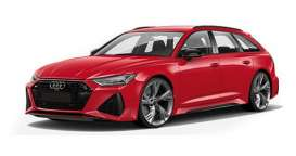 Audi  - RS 6 Avant 2019 red metallic - 1:87 - Minichamps - 87001010010 - mc870010010 | The Diecast Company