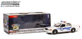 Plymouth  - Crown Victoria 1975 white/blue - 1:24 - GreenLight - 85543 - gl85543 | The Diecast Company