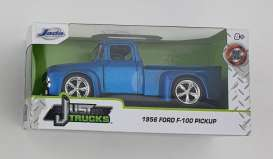 Ford  - F-100 1956 blue/yellow - 1:32 - Jada Toys - 24076 - jada24076BY | The Diecast Company