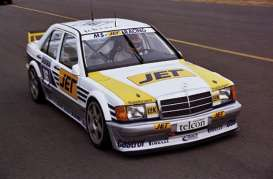 Mercedes Benz  - 190E 2.5-16 EVO 1 1990 white/yellow - 1:18 - Minichamps - 155903616 - mc155903616 | The Diecast Company