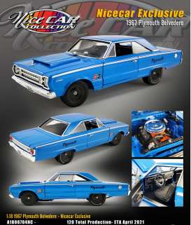 Plymouth  - Belvdere *Hurst* 1967 blue - 1:18 - Acme Diecast - 1806704NC - acme1806704NC | The Diecast Company