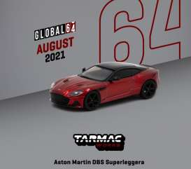 Aston Martin  - DBS red - 1:64 - Tarmac - T64G-004-RE - TC-T64G004RE | The Diecast Company