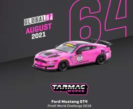 Ford  - Mustang pink - 1:64 - Tarmac - T64G-011-PWC - TC-T64G011PWC | The Diecast Company