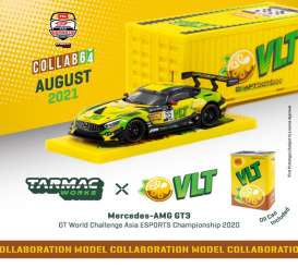 Mercedes Benz  - AMG GT3 yellow/green - 1:64 - Tarmac - T64-008-VLT - TC-T64-008VLT | The Diecast Company