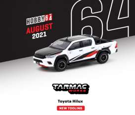 Toyota  - Hilux white - 1:64 - Tarmac - T64G-041-WH - TC-T64-041WH | The Diecast Company