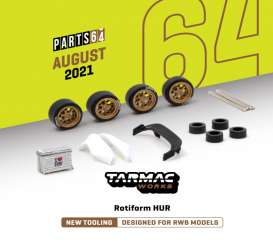 Rims & tires Wheels & tires - Rotiform HUR gold - 1:64 - Tarmac - T64W-006GL - TC-T64W006GL | The Diecast Company