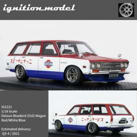 Datsun  - Bluebird red/white/blue - 1:18 - Ignition - IG2221 - IG2221 | The Diecast Company