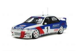 Peugeot  - 405 1995 blue/white - 1:18 - OttOmobile Miniatures - OT364 - otto364 | The Diecast Company