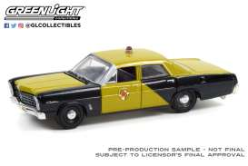 Ford  - Custom 1967 black/gold - 1:64 - GreenLight - 28080A - gl28080A | The Diecast Company