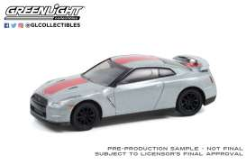 Nissan  - GT-R 2016 white/red - 1:64 - GreenLight - 28080D - gl28080D | The Diecast Company