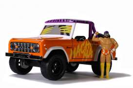 Ford  - Bronco *Macho Man* 1973 orange/purple/white - 1:24 - Jada Toys - 32046 - jada32046o | The Diecast Company