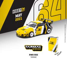 Porsche  - RWB 993 *Tarmac* 2021 yellow/black/white - 1:64 - Tarmac - T64-017-LO - TC-T64-017TM | The Diecast Company