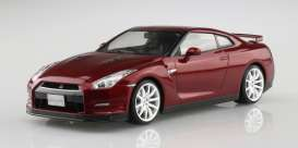 Nissan  - GT-R (R35) 2014 gold flake red pearl - 1:24 - Aoshima - 06245 - abk06245 | The Diecast Company