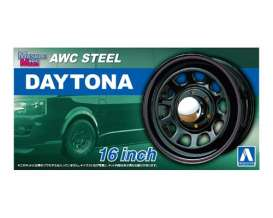 Wheels & tires Rims & tires - AWC Steel Daytona  - 1:24 - Aoshima - 05428 - abk05428 | The Diecast Company