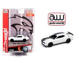 Dodge  - Challenger SRT Hellcat 1962 white/black - 1:64 - Auto World - CP7755 - AWCP7755 | The Diecast Company