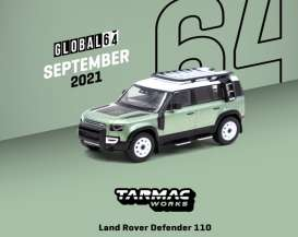Land Rover  - Defender 110 green - 1:64 - Tarmac - T64G-020-GR - TC-T64G020GR | The Diecast Company