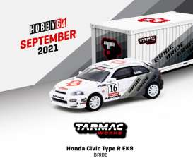 Honda  - Civic Type R white/black - 1:64 - Tarmac - T64-TL010-BR - TC-T64TL010BR | The Diecast Company